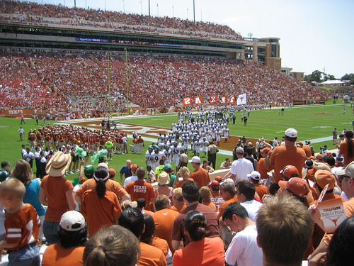 The start of North Texas leaving the field