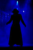 Mystery man (Rune T) Tags: show blue man black silhouette mystery wow lights artist stage smoke handheld cloak backlit performer