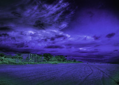 Dark. Purple. (worldwidewandering) Tags: ocean sunset usa sun beach water america d50 rocks purple florida saveme3 deleteme10 indian united 2006 indianrocksbeach nikond50 states largo hdr spaced photomatix abigfave worldwidewandering impressedbeauty