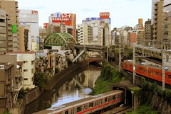 Tokyo: Ochanomizu (manganite) Tags: city topf25 station japan tag3 taggedout digital buildings river tokyo interestingness topf50 nikon topf75 asia tl bridges trains jr exhibition topf300 explore getty  nippon chuoline  d200 dslr topf150 deviantart topf100 topf250 topf200 nihon ochanomizu eki kanto gettyimages sobuline traks kandagawa topf400 topf350 fav100 fav200 fav300 interestingness128 i500 marunouchiline 18200mmf3556 utatafeature manganite nikonstunninggallery ipernity challengeyou angkorsingle challengeyouwinner date:year=2006 fav400 date:month=september date:day=15