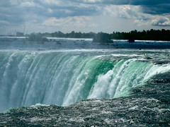 Famous place for falling water (cordes) Tags: world canada fall water waterfall amazing interesting side famous border tourist canadian niagara falls touristy huge gigantic borderline tons