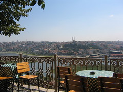 Istanbul images 2005 (Hulya in Portland) Tags: city turkey chair istanbul tables pierreloti irongrill
