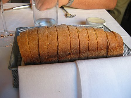 free bread & butter at Tablespoon, SF