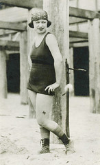 tattooed bathing beaut (carbonated) Tags: 1920s bathing beachy vintagephotograph vintagetattoo