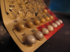 Photo of contraceptive pill packet