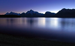 Last Twilight Jackson Lake, Grand Teton National Park, Wyoming (Fort Photo) Tags: longexposure travel blue light vacation nature night dark stars landscape nationalpark twilight topv333 nikon bravo nightscape nocturnal d70 nps shots 2006 jackson fv10 wyoming straight teton tetons nocturne afterd