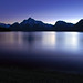 Last Twilight Jackson Lake, Grand Teton National Park, Wyoming - by Fort Photo