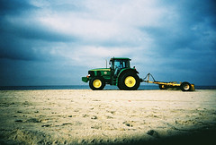beach combing (lomokev) Tags: california venice sea sky tractor beach clouds la losangeles lomo lca xpro lomography crossprocessed xprocess sand lomolca clean agfa jessops100asaslidefilm agfaprecisa comb lomograph agfaprecisa100 cruzando beachcomb precisa  deletetag jessopsslidefilm rota:type=showall file:name=day03r8e295