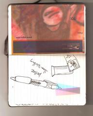 pendrawings (chadbrooks) Tags: moleskine notebook postalservice hijacking chadbrooks homemadesticker