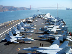 Golden Gate, Dead Ahead (Telstar Logistics) Tags: sanfrancisco f18 flightdeck fleetweek ussnimitz cvn68 fleetweek2006