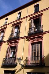 Typically Madrid (caribb) Tags: madrid voyage travel windows espaa building architecture facade spain europa europe doors balcony balkon espana balconies espagne balcn touring