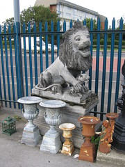 Lion with Cub on a Plinth