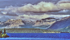 Atlin lake, BC (xtremepeaks) Tags: lake canada mountains nature clouds bc north glaciers atlin interestingness52 explore21oct06 i500