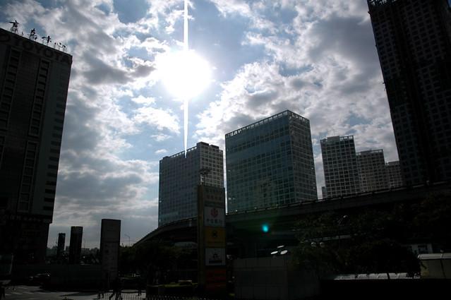 北京的蓝天(建外SOHO)