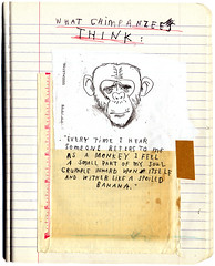 Notes From The Natural World (David Fullarton) Tags: collage monkey chimp drawing journal thoughts ape cruelty artbookklub