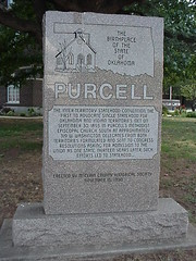 The Birthplace of the State of Oklahoma   Purcell