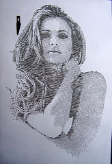 Briana Banks (Tenazadrine Boy) Tags: brianabanks briana banks stencil plantilla papercur papel cortes de papercutting planrilla estencil pornstar porn star estrella porno sexy blonde blondie hot girl milf