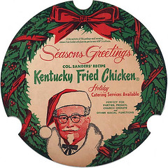 Kentucky Fried Chicken Christmas Bucket Lid (Neato Coolville) Tags: christmas xmas bucket 60s fastfood 1966 kfc 1960s colonel kentuckyfriedchicken sanders