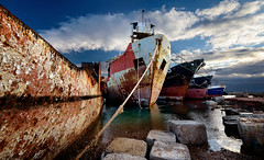 Rust in pieces (alexring) Tags: elefsina greece scrapyard ship wreck rust nikon d750 alexring