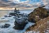 The Londrangar Cliffs (B.E.K. Photography) Tags: londrangar cliffs snaefellsnes peninsula iceland coast sea stack ocean waves rock grass sky clouds landscape seascape water winter snow ice nikond850 nikon1735f28