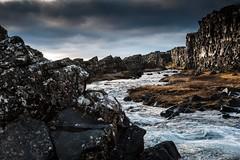 Islande, Thingvellir, 14 (Patrick.Raymond (4M views)) Tags: islande froid gel hiver neige glace cascade cercle dor hdr nikon