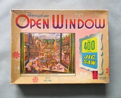 The Old Market Square, box lid (pefkosmad) Tags: jigsaw puzzle pastime leisure hobby vintage towerpress complete used secondhand theoldmarketsquare throughanopenwindow old