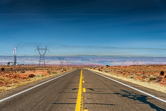 Arizona Road (CROMEO) Tags: arizona road yellow line desert desierto usa estados unidos united states eeuu cromeo photo photography capture long way travel around colors sky cr nikon fullframe landscape fabric