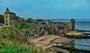 Scotland: St. Andrews Castle (gerard eder) Tags: world travel reise viajes europa europe greatbritain scotland standrews standrewscastle castle castillo burg ruins ruinen ruinas costa coastline beach paisajes panorama landscape landschaft natur nature naturaleza outdoor sea seascape