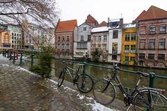 Gante (Bélgica) (Fotoencuadre Miguel Alvarez) Tags: gante belgica flandes europa bicicletas canales