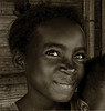 Madagascar - Fillette à Morondava. (Gilles Daligand) Tags: madagascar morondava portrait fillette sepia monochrome regard yeux sony nex5n