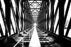 The old Railway Bridge (hha_photo) Tags: bridge brücke bw blackandwhite monochrome black white schwarzundweiss 2018 steel stahl