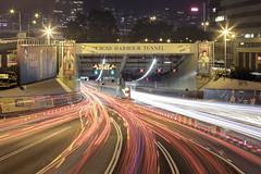 Cross Harbour 車水馬龍 (spiraldelight) Tags: ef24105mmf4lisusm eos5dmkiv hong kong 香港 night traffic trails
