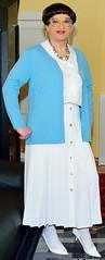Birgit026371 (Birgit Bach) Tags: blouse bluse cardigan strickjacke pleatedskirt faltenrock