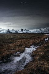 Area of Lomagnupur (Manuel.Martin_72) Tags: lomagnupur iceland darkmood darkness drama mysterious magic fields grass hills ice mountainpeaks mountains glacier frozen snow cloudy clouds afternoon wbpa