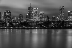 brisbane (Greg Rohan) Tags: river water australia queensland lights nightlights nightphotography night architecture skyscraper skyscrapers building buildings skyline cityscape blackwhite blackandwhite monochrome bw brisbaneriver brisbanecity city brisbane d750 2018 nikon nikkor sea sky