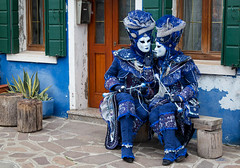 Looking Blue in Burano (cheryl strahl) Tags: italy carnaval carnevaledivenezia holiday costumes masks glamour festive