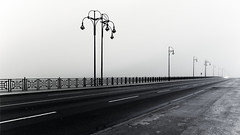 first light (#ca) Tags: theodorheussbrücke mainz em10markii 1240mmf28 dawn nebel misty