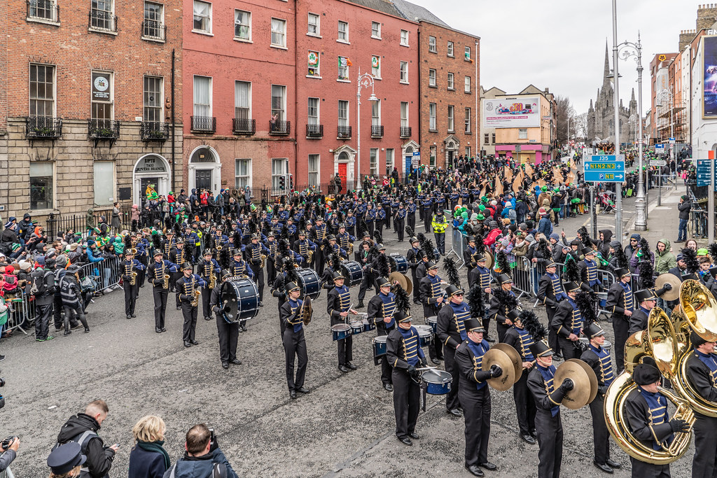 Legacy High School Lightning Marching Band [St. Patricks Day Parade 2018 In Dublin]-137536
