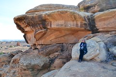 Sue On The Slickrock Trail (Joe Shlabotnik) Tags: justsue nationalpark utah sue 2017 canyonlands november2017 canyonlandsnationalpark afsdxvrzoomnikkor18105mmf3556ged