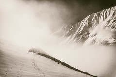 *** (T1000-sl) Tags: nex6 sony person clouds snow sun manaslu nepal trekking trek travel mountains mountain