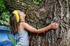 Tree Hug (Vegan Butterfly) Tags: outside outdoor summer vegan person kid child cute adorable tree plant nature dryden hug hugging