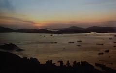 Hong Kong sunset (1981) (frankmh) Tags: sunset hongkong landscape hong kong 1981