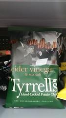 Tyrrell's Cidar Vinegar & Sea Salt Hand-Cooked Potato Chips (Adventurer Dustin Holmes) Tags: tyrrells food 2018 bagofchips bagofpotatochips chips potatochips handcookedpotatochips cidervinegar seasalt 52