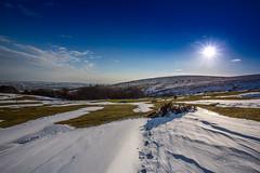 Slow Thaw (JKmedia) Tags: boultonphotography march 2018 winter spring snow ice weather landscape afternoon sunset sun blue bluesky moor dartmoor devon western beacon 15challengeswinner