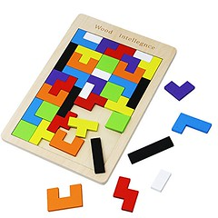 Wooden Tetris Puzzles Tangram Brain Teaser Educational Toys Board Games for Kids 40 Pieces (puzzle) (saidkam29) Tags: board brain educational games kids pieces puzzle puzzles tangram teaser tetris toys wooden