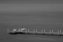 Rainy Morning on the Bay (mjhedge) Tags: water grey blackandwhite blackwhite bw monochrome traversecity michigan puremichigan fuji fujifilm xt1 55200 xf55200