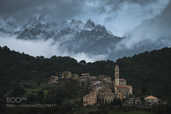 Contrast (ElginCon) Tags: ifttt 500px corsica corse moody clouds vilagge dramatic mountains city old landsape earthporn