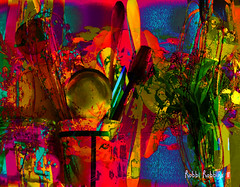 Jazzed To Cook (brillianthues) Tags: kitchen utensils abstract colorful collage photography photmanuplation photoshop