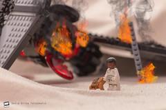 Finn finds Poe's jacket (David Otten Fotografie) Tags: 70300 afol brabant brick d610 finn holland jakku lego nederland netherlands nikkor nikon nikond610 nikontop tfa tie crash davidottenfotografie desert dof picoftheday sinkingsands starwars strobe toys helmond noordbrabant
