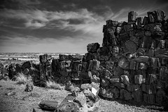 Agate House Wall in Monochrome (ProPeak Photography - Thanks for 600,000 views!) Tags: agatehousepueblo america architecture arizona bw clouds famousplace grass horizon internationallandmark landscape monochrome nps nationalpark nationalregisterofhistoricplaces nature northamerica petrifiedforestnationalpark petrifiedtree places spring texture touristattraction traveldestination travelandtourism trees usa unitedstates desert ngc